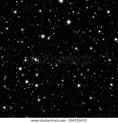 nebula sky with stars - stock photo