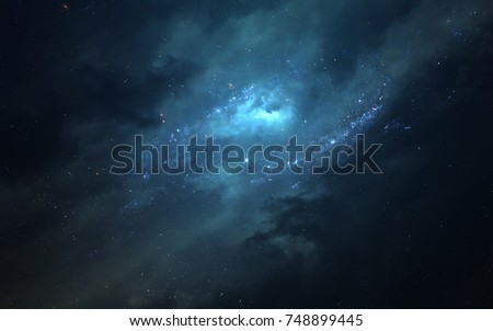 Nebula somewhere in Milky way. Deep space image, science fiction fantasy in high resolution ideal for wallpaper and print. Elements of this image furnished by NASA