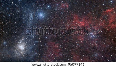 Nebulae in Camelopardalis constellation