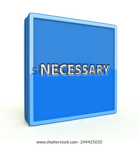 Necessary square icon on white background