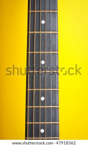 neck guitars and strings - stock photo