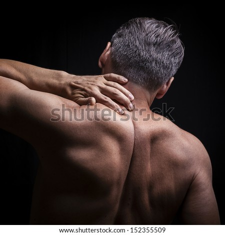 Neck pain - stock photo