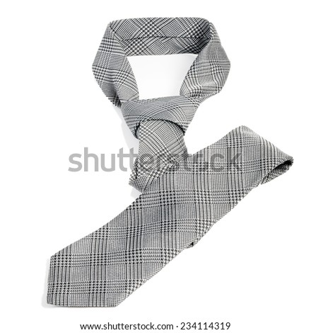 Neck tie isolated on the white - stock photo
