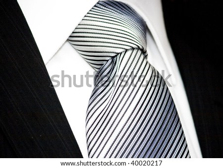 neck tie isolated on white - stock photo