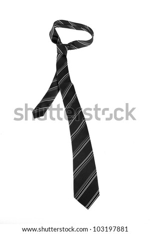 Neck tie on white - stock photo