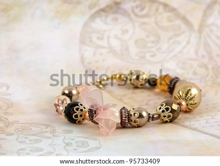 necklace in fashion and beauty concept � selective focus - stock photo
