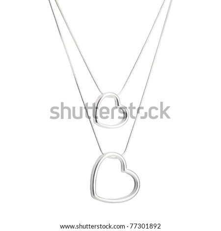 necklace isolated on white