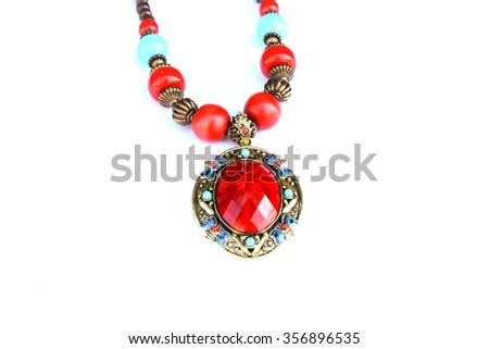 Necklace jewelry - stock photo