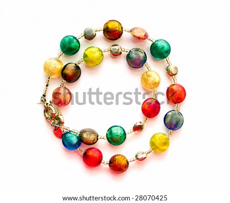 Colorful Bead Necklace Necklace Made of Colorful