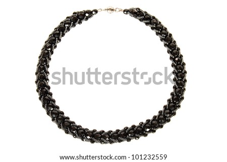 necklace of black beads