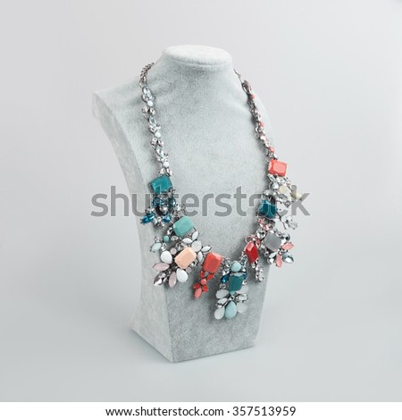 necklace on a mannequin - stock photo