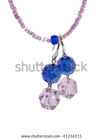 necklace with earrings - stock photo