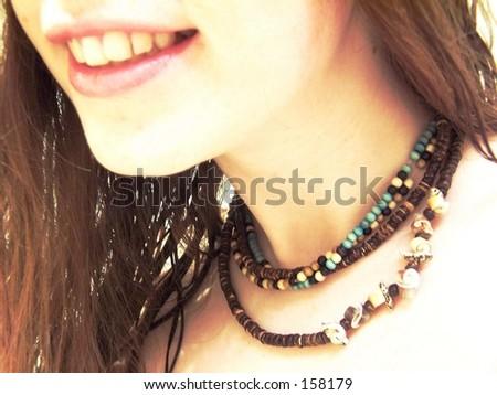 necklaces - stock photo