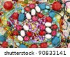 Necklaces and brooches. - stock photo