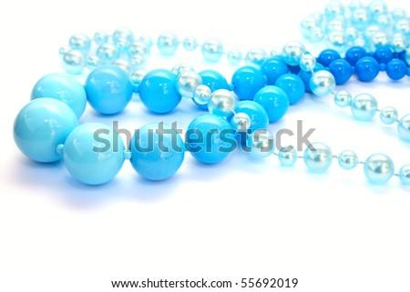 Necklaces isolated on white background. - stock photo