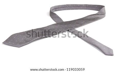 necktie isolated on white - stock photo