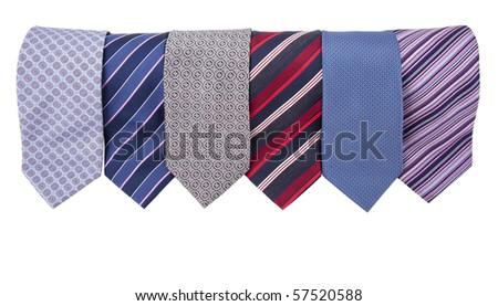 neckties in a row - stock photo