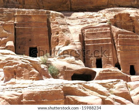 Necropolis, Petra, Jordan, Middle east
