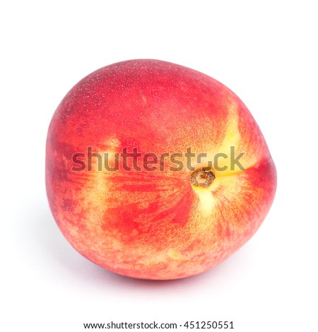 Nectarine fruit isolated on white background