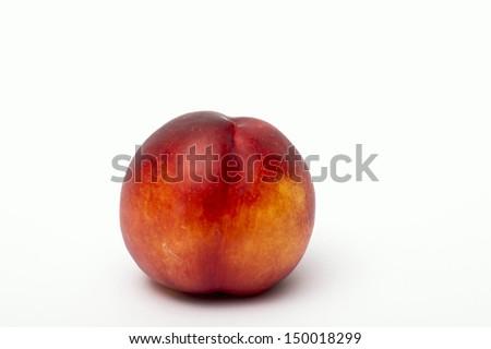 Nectarine isolated on white background - stock photo