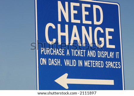 Need change sign put up for help by the city