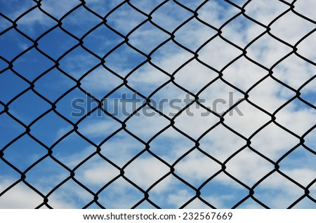 need freedom jail and bluesky background - stock photo