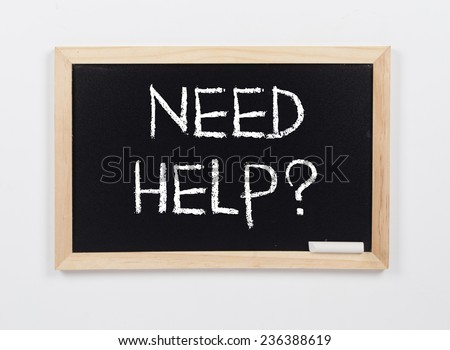 Need Help? - stock photo