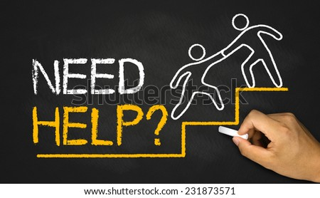need help concept - stock photo