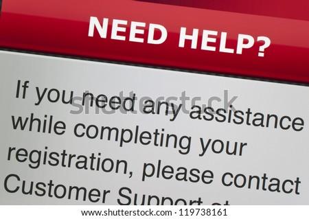 Need help on computer screen - stock photo
