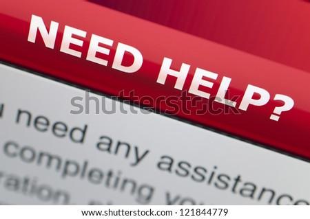 Need help on screen - stock photo