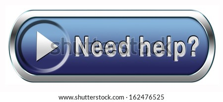 need help or wanted helping hand assistance or support desk - stock photo