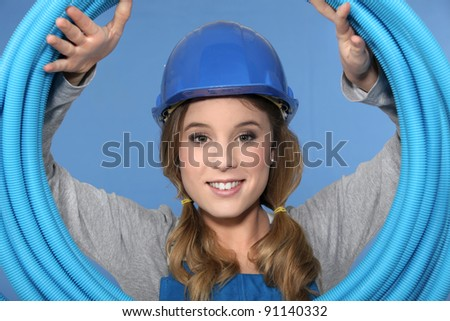 Need some pipes? - stock photo