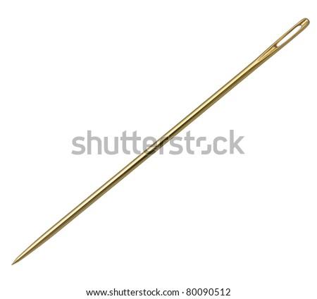 Needle. - stock photo