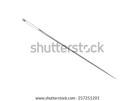 Needle , on an isolated white , 3d render - stock photo