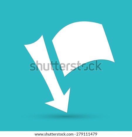 needle with a flag - stock photo