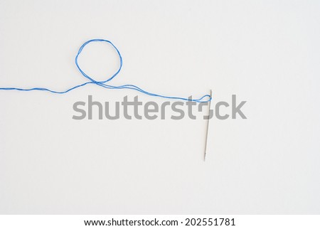 needle work - stock photo