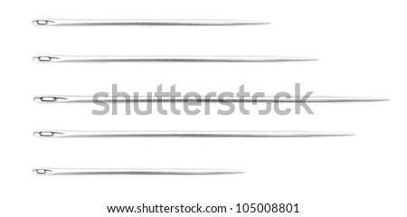 Needles. On a white background. - stock photo