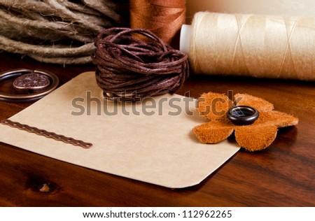 needlework - stock photo