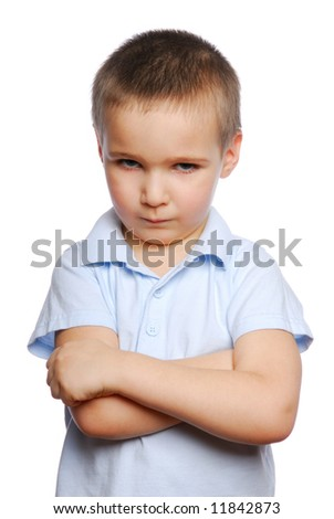 Negative behaviour of young little boy