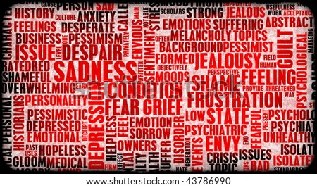 Negative Emotions Building Up Stress As Art - stock photo