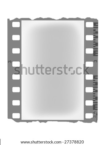 negative film isolated