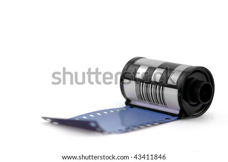 Negative film roll - stock photo
