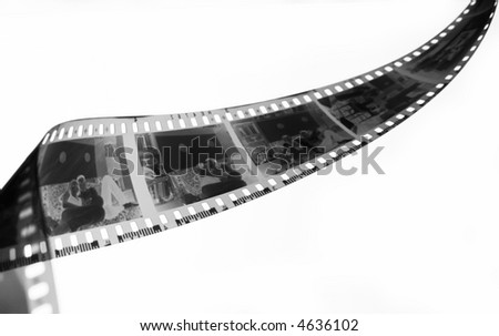 Negative film strip - stock photo
