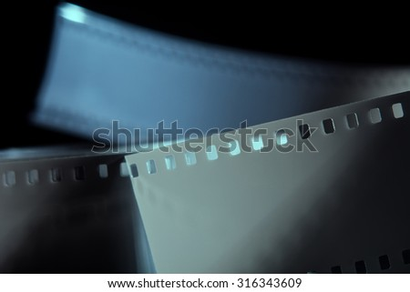 Negative 35 mm film. Photographic film. Background from films - stock photo