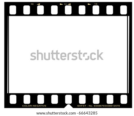 negative picture film frame - stock photo