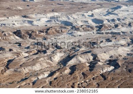 Negev desert - View from Masada,Israel - stock photo