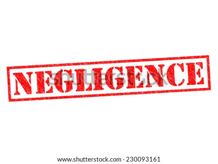 NEGLIGENCE red Rubber Stamp over a white background. - stock photo