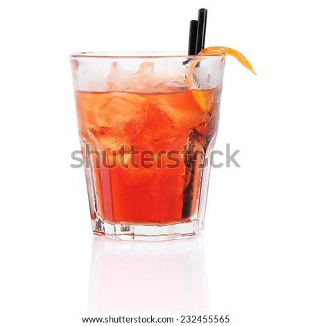 negroni cocktail - stock photo