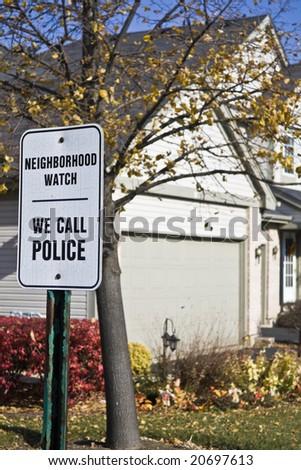 Neighborhood Watch - We Call Police - stock photo