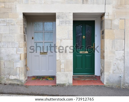 Neighbouring Town Houses - stock photo